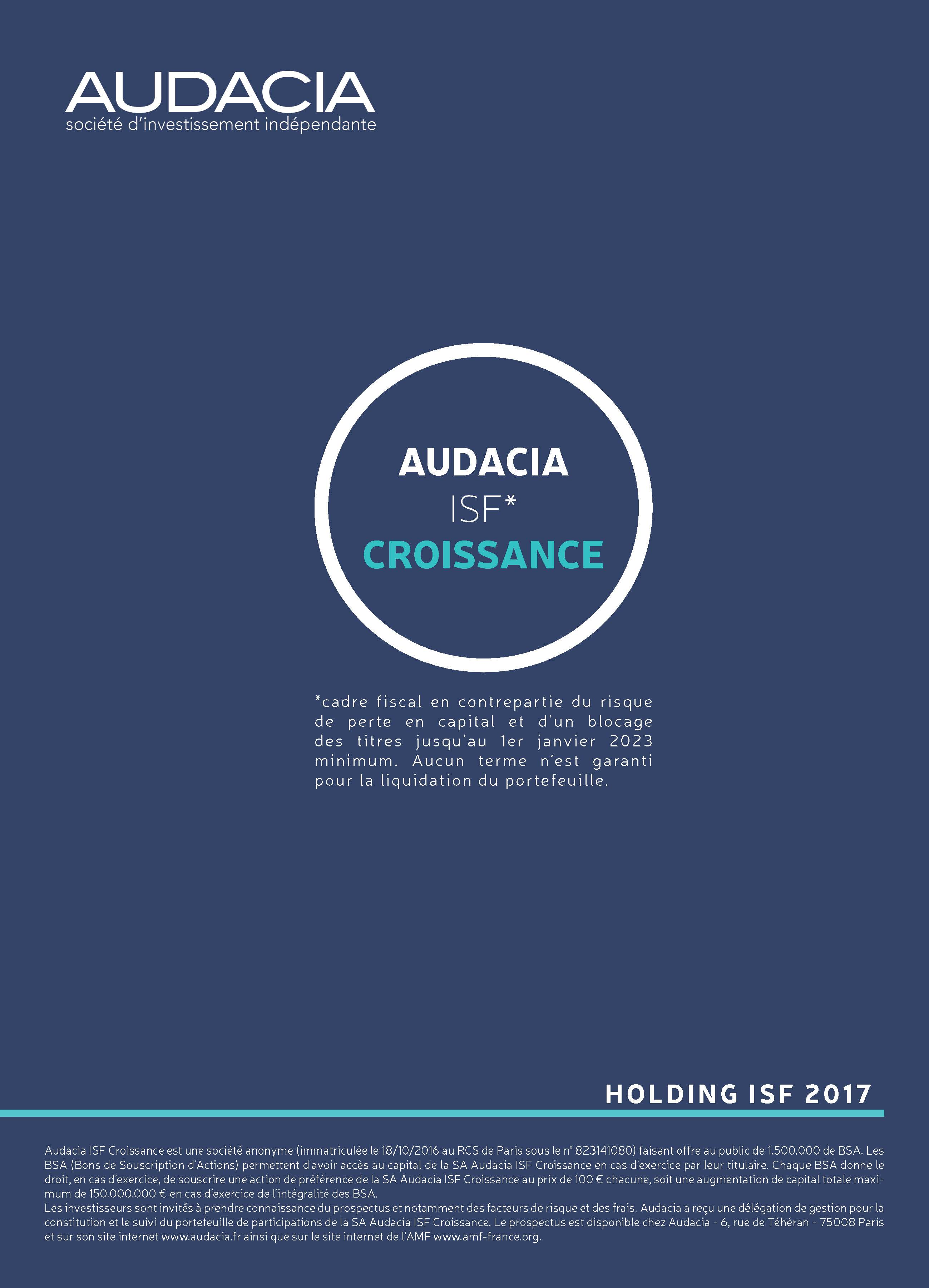 AUDACIA ISF Croissance 2017