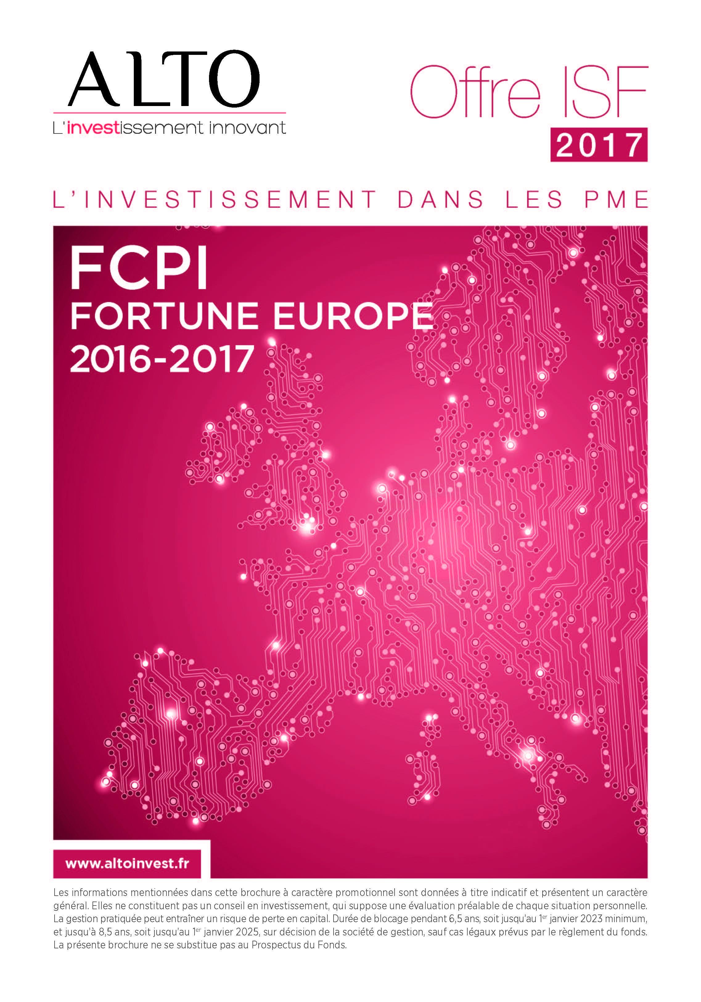 FCPI FORTUNE EUROPE 2016 – 2017