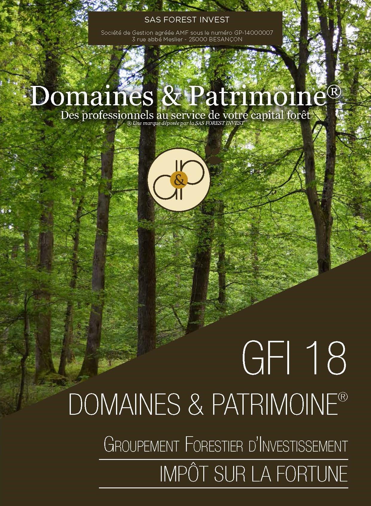 GFI 18 Domaines et Patrimoines